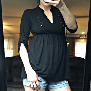 Speechless Black Top Size Large